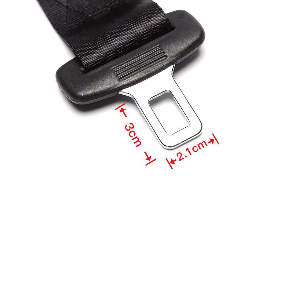 2 Pack 14.25 Seat Belt Extender for Cars 7//8 inch Metal Tongue E11 Safety Certified Seat Belt Extender for Most Cars