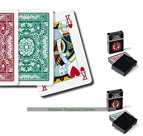 2 x Packs of NTP Long Life 100% PVC Floreales Poker Playing Cards Dal Negro
