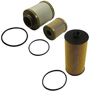 CARMOCAR For Ford Powerstroke 6.0L Diesel Oil Filter Fuel Filter 03-07 FL2016 FD4604 FD4616