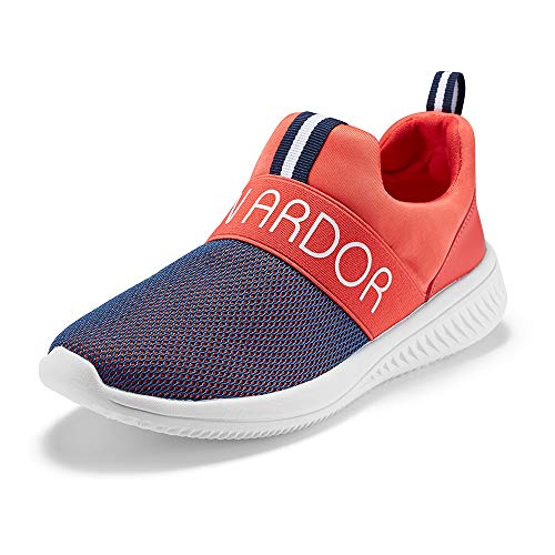 JENN ARDOR Women's Running Shoes Lightweight Slip-On Breathable Mesh Work Sneakers Athletic Sports Walking Shoes Red 7 US