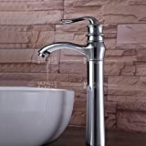 Furesnts Modern home kitchen and bathroom faucet Round raised lavatory Faucets copper mirror-plated Faucets,(Standard G 1/2 universal hose ports)