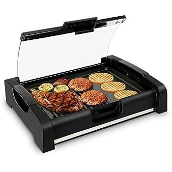 Amazon Com Nutrichef Electric Griddle Dual Hot Plate
