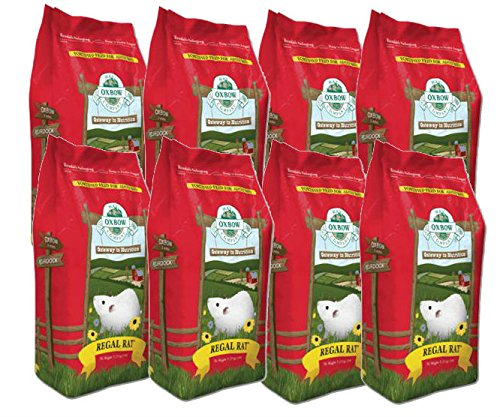 Oxbow REGAL RAT Adult Food Essential Fortified Nutrient Low-Fat Kibble 3lb 8PACK by Oxbow