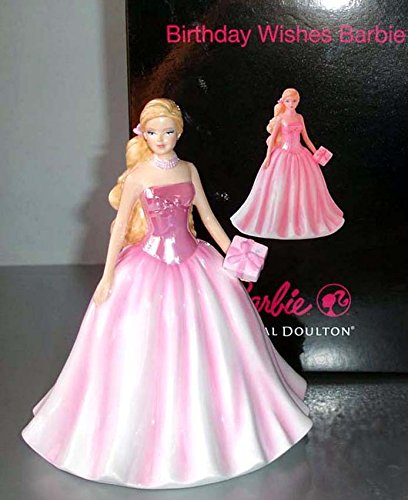 Birthday Doulton Royal Figurine (Royal Doulton Barbie Birthday Wishes Figurine HN5532 2011 New in Box)