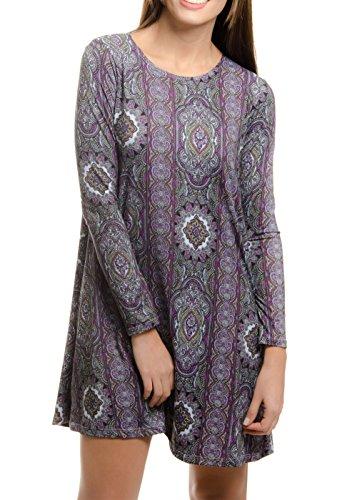 44 Colors Women Dresses On Sale Casual Plain Long Sleeve Shi