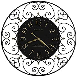 Howard Miller Joline 36 Black Iron Wall Clock