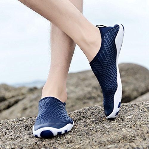 Homme Air Plage de Été en foncé Chausson Chaussure Piscine XIGUAFR Femme de bleu Plein Aquatique Printemps 8CnaFq