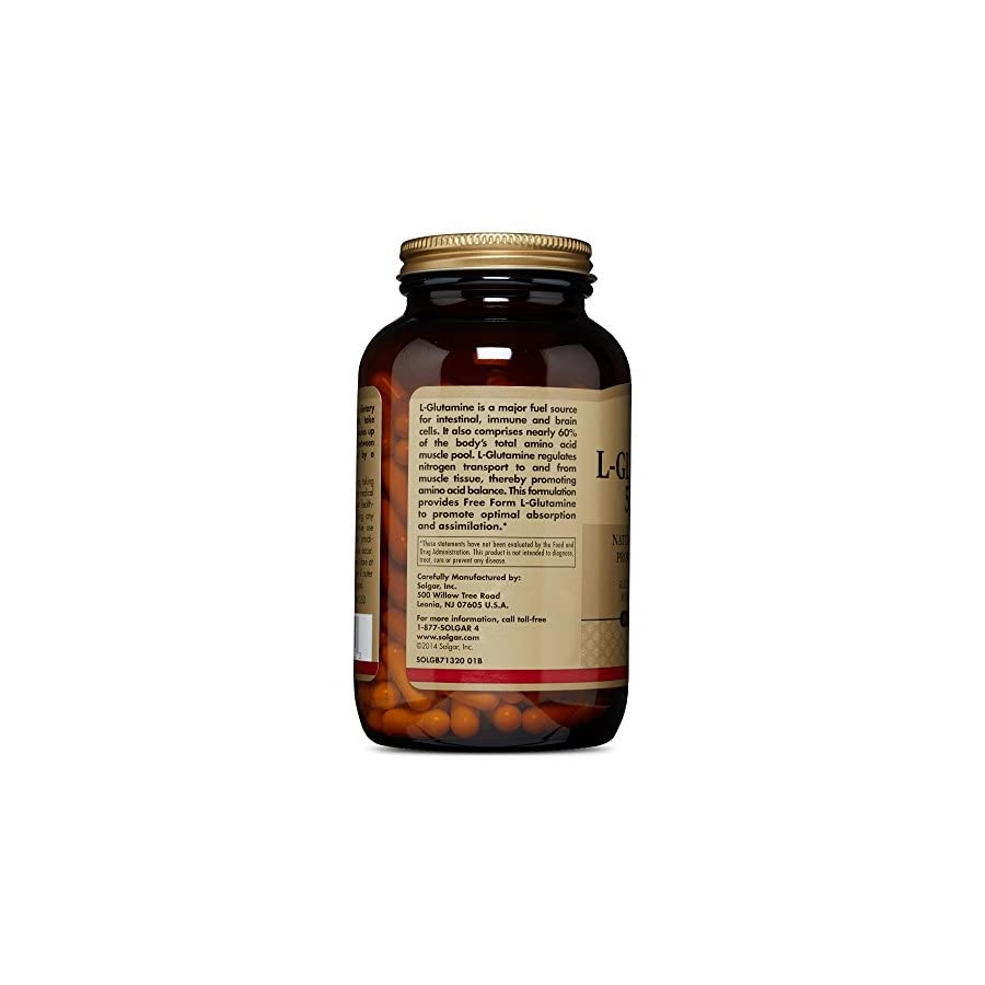 Solgar, L Glutamine 500 mg 250 Vegetable Capsules