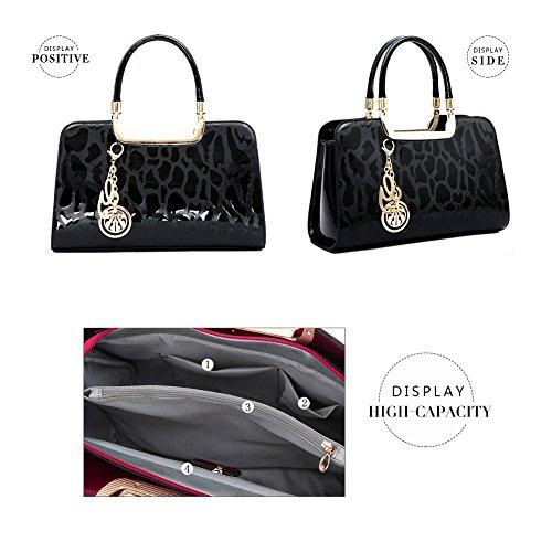 Red Tassel Black Crossbody Rose Top Women G Purse AVERIL Shoulder Bag Bag Handle Satchel Tote for Handbag qZaYAwU