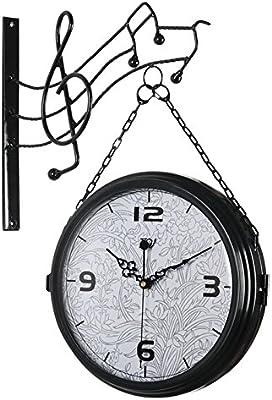 Générique Horloge Murale Pastorale Double Face En Fer Forgé