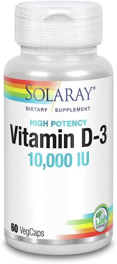 Vitamin D-3 10,000 IU Solaray 60 VCaps