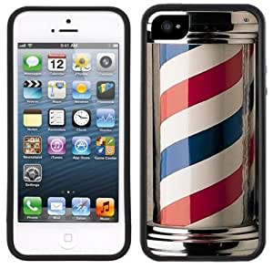 Barber Shop Pole Handmade iPhone 5 Black Bumper Plastic Case