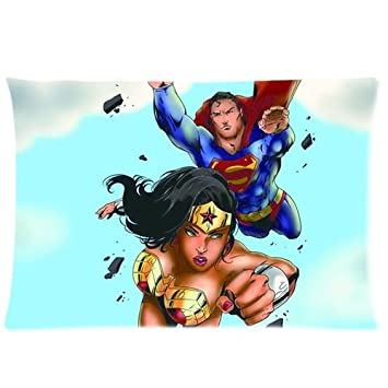 Amazon.com: Wonder Woman Custom Rectangle Pillow Cases 20x30 ...