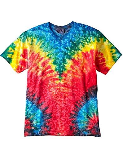 Tie-Dyed Tie-Dye CD100 100% Cotton T-Shirt Woodstock X-Large ()
