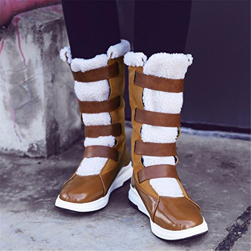 big hairy shoe Winter snowshoe middle shoe Brown shoe bottom lady's px7F6ZnqS