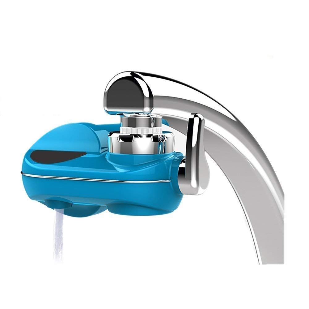 Powpro CECOMINOD048636 111 Fwat PP-JTP05 Horizontal Faucet 5 Stages Mieral Water Filter System, medium blue
