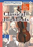 MasterPlayAlong, Classical Highlights 2, CD-ROMs : Violoncello, 1 CD-ROM Für Windows 95/98