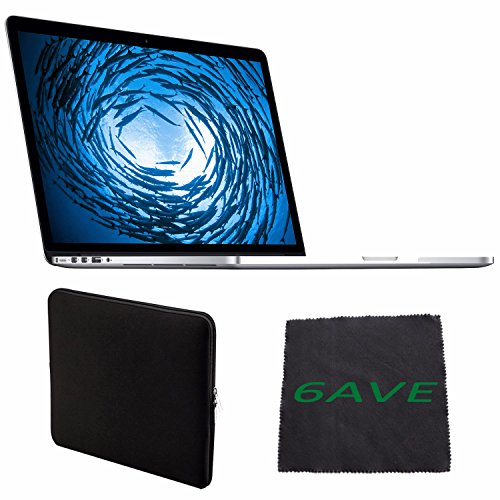 "Price comparison product image Apple 15.4"" MacBook Pro MJLT2LL/A Notebook Computer with Retina Display & Force Touch Trackpad + Padded Sleeve For Macbook + MicroFiber Cloth Bundle"