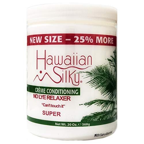 Hawaiian Silky Sensitive Scalp Conditioning Relaxer Super 20oz No lye For Natural Hair - 100% Real Jojoba & Mink Oils - Good on Color Treated Hair - All Hair Types Men, Women & Teens by Hawaiian Silky