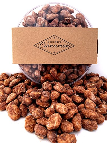 Cinnamon Almonds – 16 oz Gift Bin (Clear) Cinnamon Toffee Almonds – Gourmet Candied Nuts by Secret Cinnamon (Cinnamon Gift)