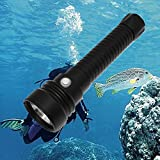 Whaitfire Led Scuba Diving Flashlight, 4000 Lumen