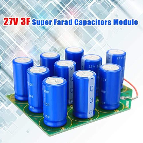Jammas 27V 3F Super Farad Capacitors Module Power Motor Start ()