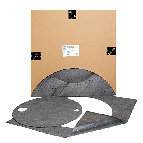 New Pig Barrel Top Absorbent Mat with Skirt, for 55-Gallon Drums, Keep Drum Tops Clean, Heavyweight, 83 oz Absorbency, 22