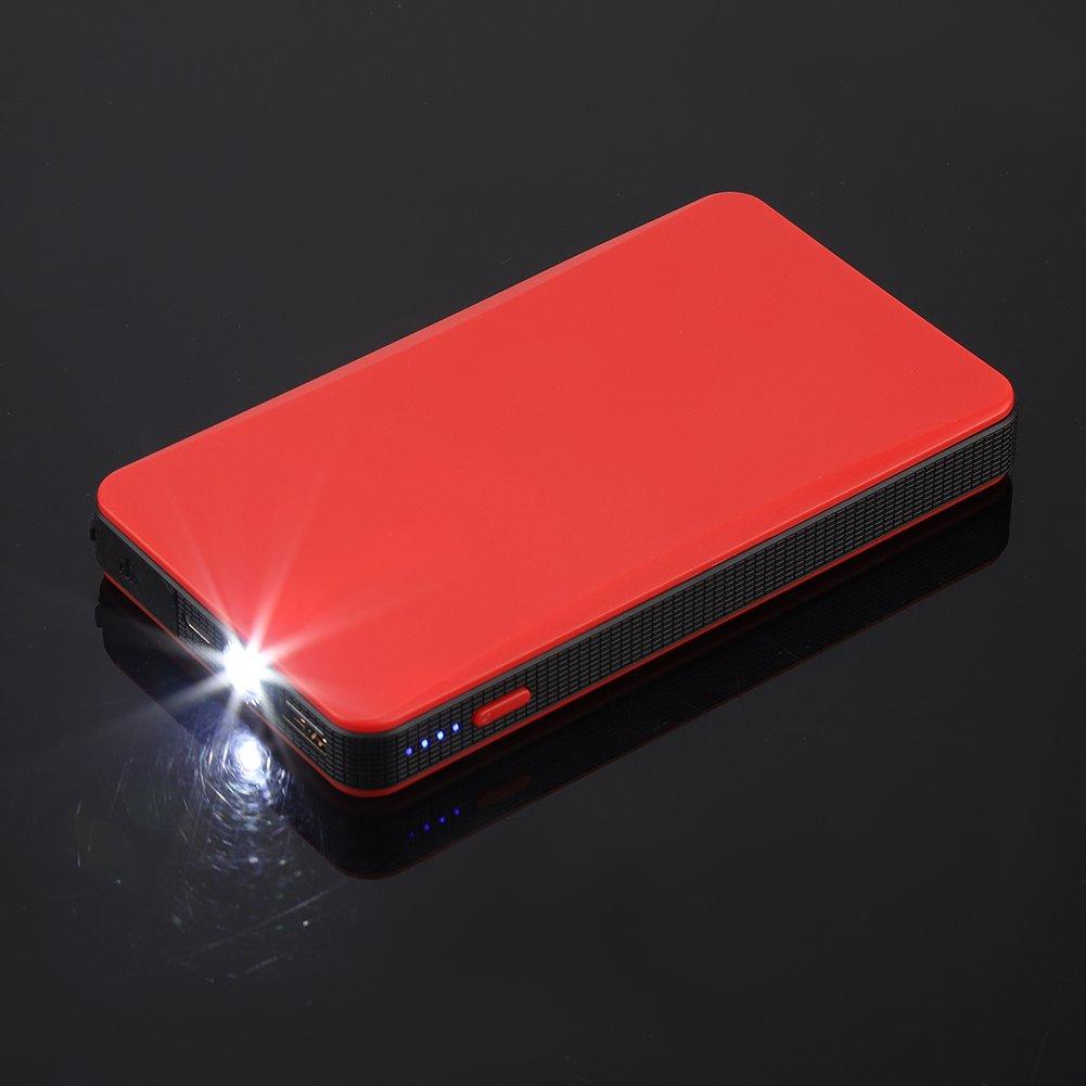 Red Qii lu 12V Portable Car Jump Engine Battery Charger Power Bank for Gasoline Engine 3.0L