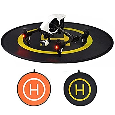 """Abaige Quadcopters Landing Pad (Easy Folding) 43""""/110cm RC Drones Helipad for DJI Spark Spark Phantom Series Mavic Pro Parrot Inspire and ALL RC Drones"""
