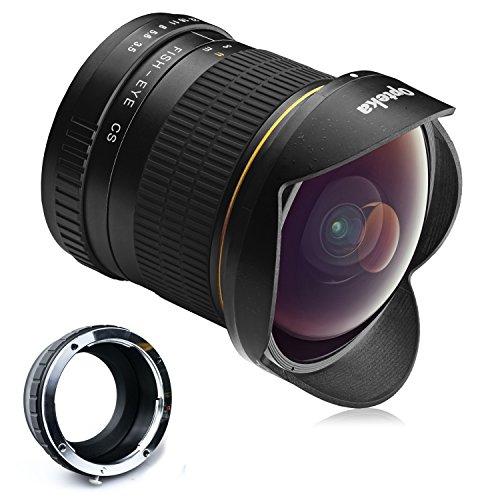 Opteka 6.5mm f/3.5 HD Aspherical Fisheye Lens with Removable Hood for Nikon 1 J5, J4, J3, J2, S2, S1, V3, V2, V1 and AW1 Compact Mirrorless Digital Cameras