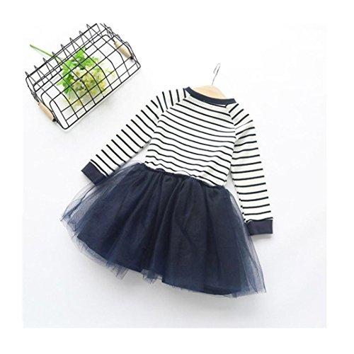 efaster-fashion-cute-kid-girl-toddler-pageant-stripe-splice-long-sleeve-dress-3t-blue