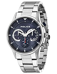 Police Men Watch Driver PL.14383JS/03M Stainless Steel Bracelet and Case, analogue