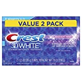 Crest 3D White Whitening Toothpaste, Radiant Mint, 3.5oz, Twin Pack: more info
