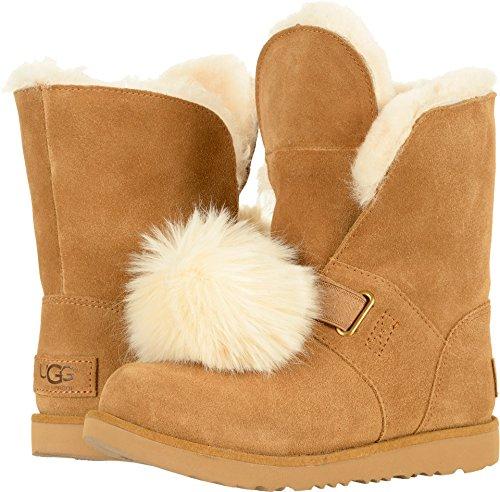 (UGG Girls Isley WP Boot, Chestnut, 6 M US Big)