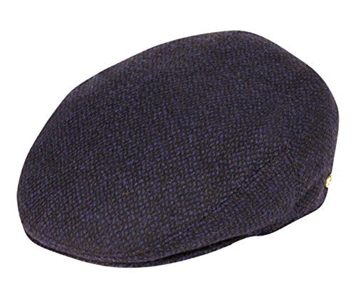Men's Premium Wool Blend Tweed Flat IVY newsboy Collection Hat,Navy Tweed,X-Large -
