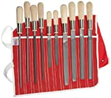 Simonds 10 Piece All Purpose Hand File Set with Handles, American Pattern, Double Cut
