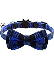 Cat Collar with Bow Tie and Bell, Kitty Kitten Collar Collar Breakaway for Cat Puppy & Small Dogs(1 Pack)