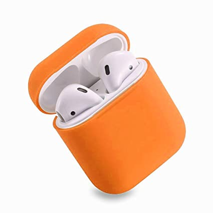 HappyCover Compatible for Airpods Case 2 & 1, Protective Silicone Cover Skin for Airpods Charging Case (Vibrant Orange)