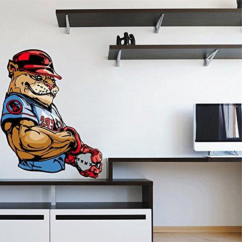 cik692 Full Color Wall decal sport baseball pet cat big puma lioness children's