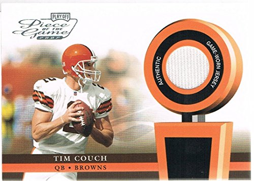 2002 Playoff Game - 2002 Playoff Piece of the Game Materials #53J Tim Couch Jersey