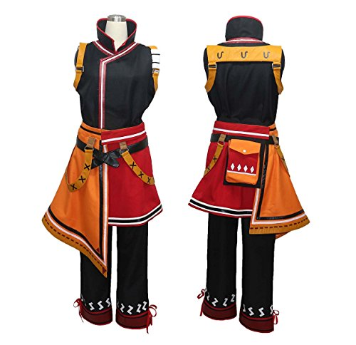 [makura Men's 3229Monster Hunter Portable 3rd Yukumo village Hunter-style Cosplay (M)] (Monster Hunter Cosplay Costume)