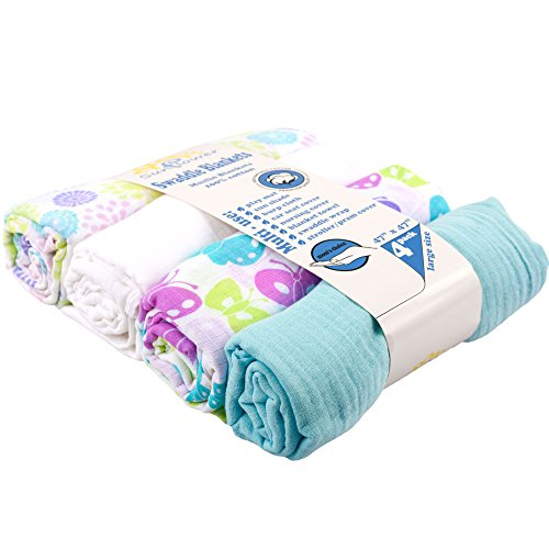 Unisex Baby Blankets Breathable Receiving