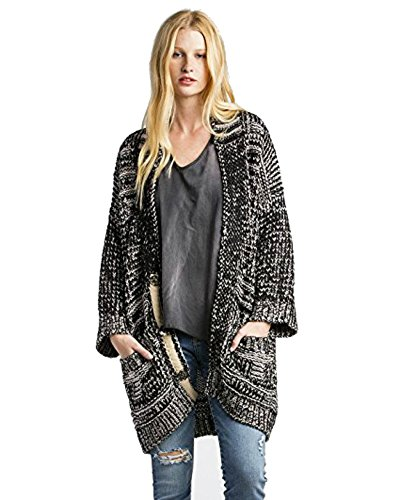 Miss Me Women's Mm Vintage Grey Aztec Print Sweater Taupe Medium by Miss Me