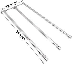 SHINESTAR 67820 67722-3 Burner Tubes Set for Weber Genesis 300 Series (2007-2010), Stainless Steel, 34 1/4 inch