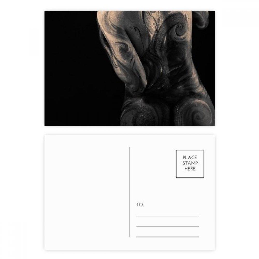 DIYthinker Tatuaje del cuerpo Culo Desnuda Butt Gracias tarjeta ...