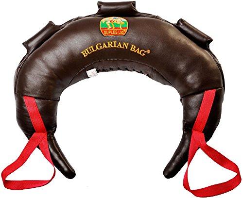 Bulgarian Bag - Genuine Leather (30 lb.) (Fitness, Crossfit, Wrestling, Judo, Grappling, Functional Training, MMA, Sandbag) ...