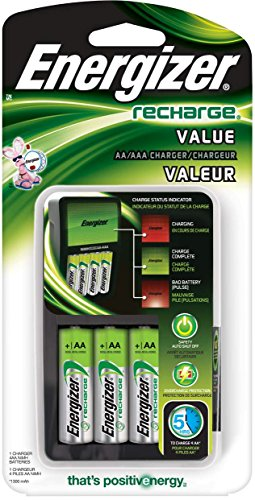 Energizer Value Charger avec AA rechargeable NiMH