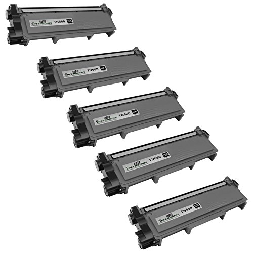 Speedy Inks - 5 Pack Compatible Brother TN630 TN660 TN-660 High Yield Black Toner Cartridge fort use in DCP-L2520DW, DCP-L2540DW, HL-L2300D, HL-L2320D, HL-L2340DW, HL-L2360DW, HL-L2380DW, MFC-L2700DW, MFC-L2720DW, & MFC-L2740DW