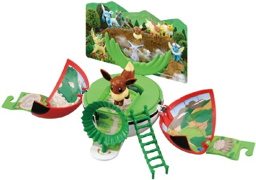 Takara Tomy Pokemon Ball Change! Mon Colle World Eevee and Woods
