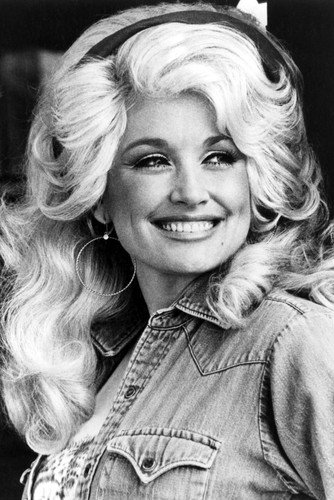 Dolly Parton Smiling pose wearing denim Jacket 24x36 Poster
